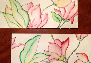 Watercolor flower templates
